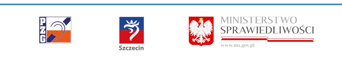Baner zlogosami - PZG, UM Szczecin iMinisterstwo Sprawiedliwości