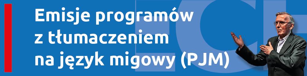baner linkowy do informacji o emisji programów TV tłumaczonego w języku migowym